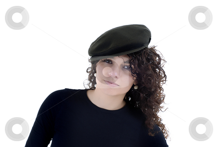 Girl stock photo, Pretty young woman portrait with copy space by Rui Vale de Sousa