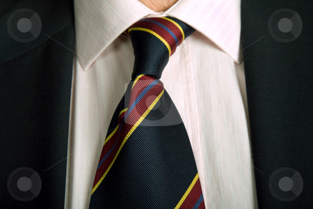 Necktie stock photo, Detail of a business man suit with colored tie by Rui Vale de Sousa