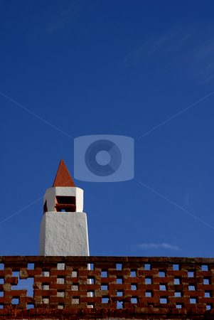 Chimney stock photo, Portuguese chimney detail in the south of the country by Rui Vale de Sousa