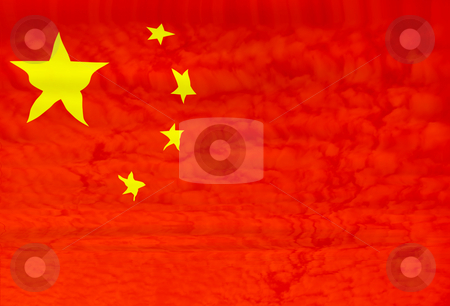 China stock photo, China flag illustration by Rui Vale de Sousa