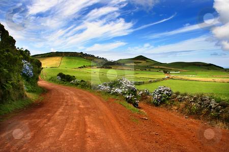 Path stock photo, Azores fields by Rui Vale de Sousa