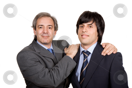 Team stock photo, Two young business men portrait, isolated on white by Rui Vale de Sousa