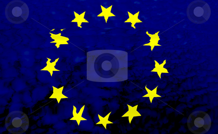 Flag stock photo, Europe red and yellow flag illustration, computer generated by Rui Vale de Sousa
