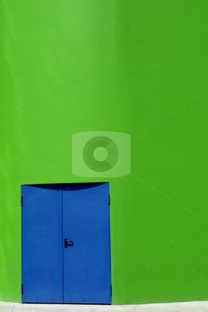 Blue door stock photo, Modern building details by Rui Vale de Sousa