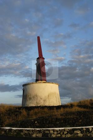 Wondmill stock photo, Azores windmill of s. jorge by Rui Vale de Sousa