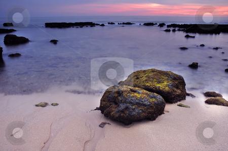 Dreamy stock photo, Long Exposure of sea over rocks - dreamy feel by Rui Vale de Sousa