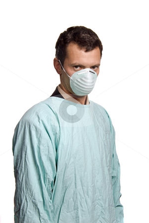 Doctor stock photo, Young male nurse, isolated on white background by Rui Vale de Sousa
