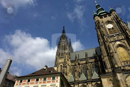 St. vitus stock photo, St.Vitus Church in Prague on a bright and sunny day by Rui Vale de Sousa