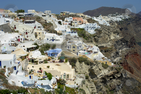 Santorini stock photo, View of Oia at the greek island of Santorini by Rui Vale de Sousa