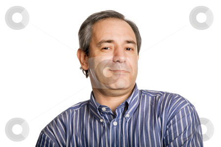 Silly stock photo, Silly mature casual man, close up portrait by Rui Vale de Sousa