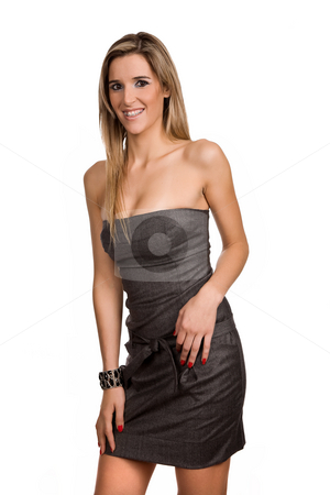Woman stock photo, Young woman model isolated on white background by Rui Vale de Sousa