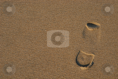 Footprints stock photo, Footprints on the sand by Rui Vale de Sousa
