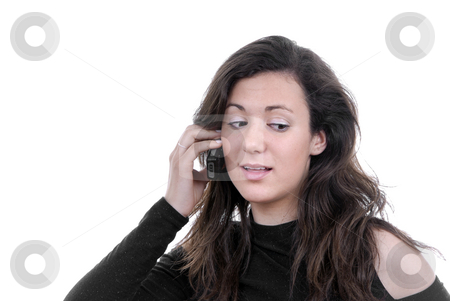 Mobile phone stock photo, Young woman speaking on the mobile phone by Rui Vale de Sousa