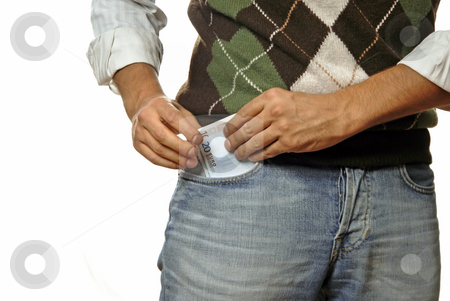 Money stock photo, Young man detail with money in the pocket by Rui Vale de Sousa
