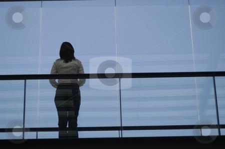 Girl stock photo, Girl on the building by Rui Vale de Sousa