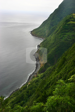 Cliff stock photo, Azores coastal view by Rui Vale de Sousa