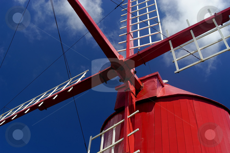 Windmill stock photo, Azores windmill detail by Rui Vale de Sousa