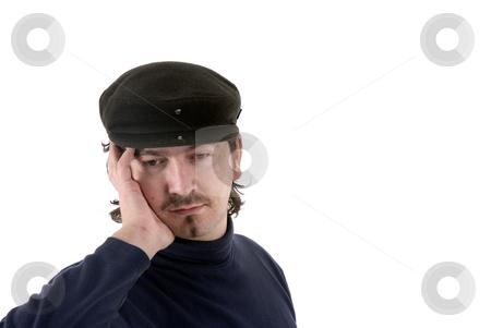 Headache stock photo, Young man portrait with a headache in white background by Rui Vale de Sousa