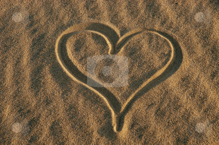 Heart stock photo, Heart on the sand by Rui Vale de Sousa