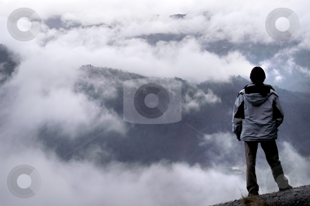 Mountains stock photo, Man in the mountains by Rui Vale de Sousa