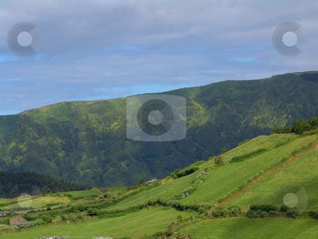Green stock photo, Green azores mountains by Rui Vale de Sousa