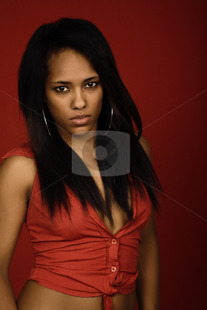 Sexy stock photo, Young casual woman close up portrait, studio shot by Rui Vale de Sousa