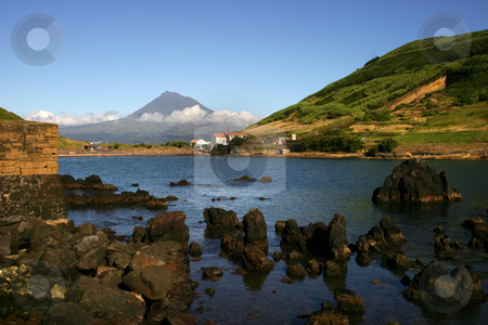 Porto Pim stock photo, Azores view of Porto Pim in Faial Island by Rui Vale de Sousa