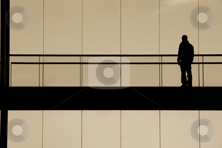 Man stock photo, Man in the building by Rui Vale de Sousa