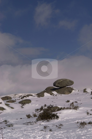 Winter stock photo, Snow at estrela mountain in the west of portugal by Rui Vale de Sousa