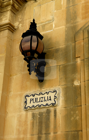 Lamp stock photo, Old lamp in the city of Mdina, Malta by Rui Vale de Sousa