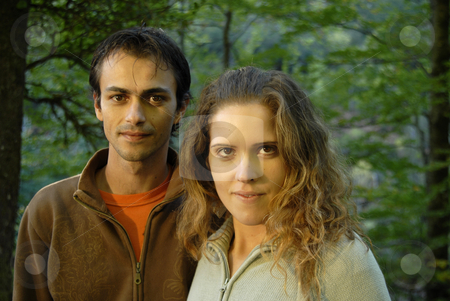 Couple stock photo, Young fashion couple portrait at the forest by Rui Vale de Sousa