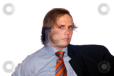 Portrait stock photo, Young business man in a white background by Rui Vale de Sousa