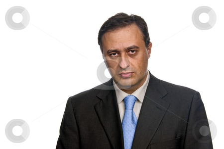 Bored stock photo, Business man isolated over a white background by Rui Vale de Sousa
