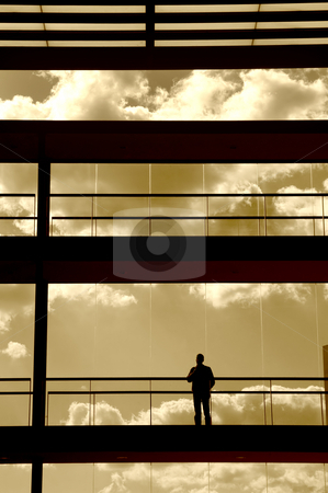 Interiors stock photo, People in the building by Rui Vale de Sousa