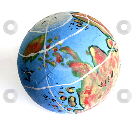 Globe stock photo, Small globe isolated on the white backgroud by Rui Vale de Sousa