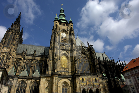 Church stock photo, St.Vitus Church in Prague on a bright and sunny day by Rui Vale de Sousa