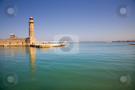 Lighthouse stock photo, Venetian lighthouse of rethimno in the island of crete, greece by Rui Vale de Sousa