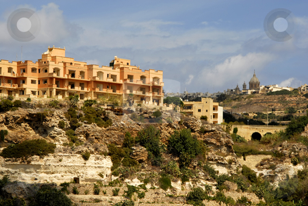 Gozo island stock photo, Coastal architecture of gozo island in malta by Rui Vale de Sousa