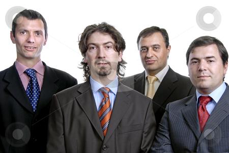 Business men stock photo, Four young business men portrait on white by Rui Vale de Sousa