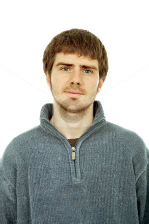 Casual man stock photo, Young casual man portrait, isolated on white by Rui Vale de Sousa