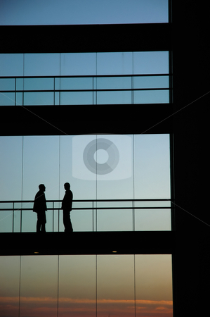 Meeting stock photo, People inside the building silhouette by Rui Vale de Sousa
