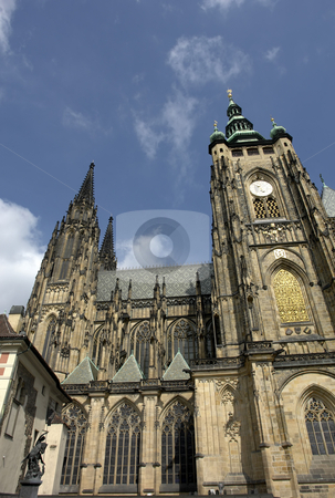 St. Vitus' Cathedral stock photo, St. Vitus' Cathedral in the city of prague by Rui Vale de Sousa