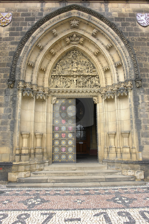 Entrance stock photo, Main door entrance of sao vito church in prague by Rui Vale de Sousa