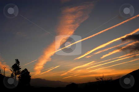 Sunset stock photo, Sunset at the mountains in the north of spain by Rui Vale de Sousa