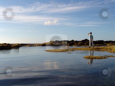 Look stock photo, Girl on the coast by Rui Vale de Sousa