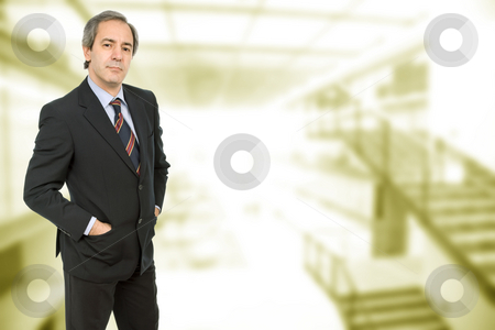 Worker stock photo, Mature business man portrait in a office building by Rui Vale de Sousa