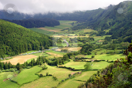 Fields stock photo, Azores natural landscape in s miguel island by Rui Vale de Sousa