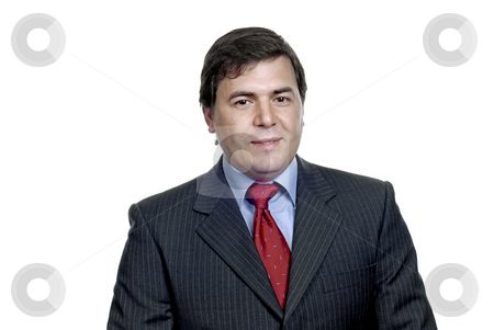 Businessman stock photo, Young business man portrait in white background by Rui Vale de Sousa