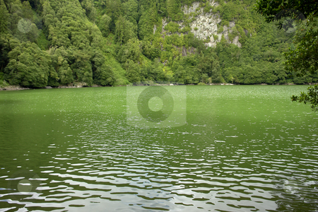 Lake stock photo, Azores green lake at s miguel island by Rui Vale de Sousa