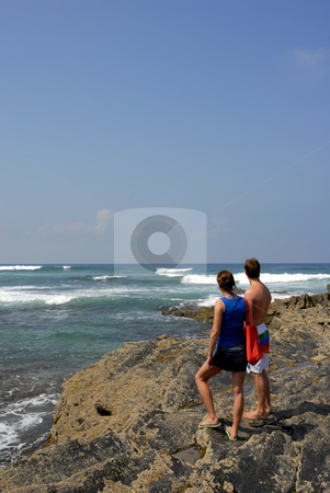 Couple stock photo, Young couple at the coast in the south of portugal by Rui Vale de Sousa